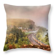 She's Comin' 'round The Bend Throw Pillow