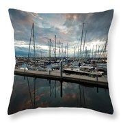 Shilshole Marina Tranquility Throw Pillow