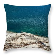 Shimmering Azure Water Throw Pillow