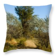 Shimmering Leaves Throw Pillow