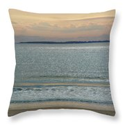 Shimmering Sunlight Upon The Sea Throw Pillow