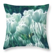 Shimmering Tulips Throw Pillow