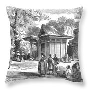 Shinto Shrine, 19th Century Throw Pillow
