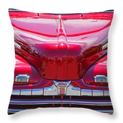 Shiny Red Ford Convertible. Throw Pillow