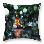 Shiny Tree In Bienville Square Throw Pillow