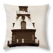 Ship John Shoal Light Throw Pillow