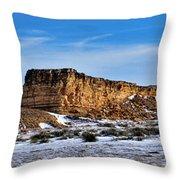 Ship Rock In Kansas Throw Pillow