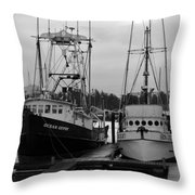Ships At Anchor Throw Pillow