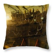 Shipwreck Of The Mary Rose, Portsmouth Throw Pillow