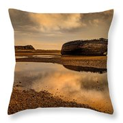 Shipwrecked Boat Throw Pillow