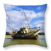 Shipwrecks, Bunbeg, Co Donegal Throw Pillow