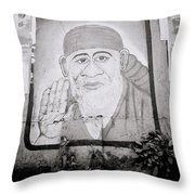 Shirdi Sai Baba In Bombay Throw Pillow