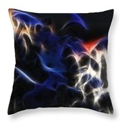 Shocking Petunias Throw Pillow