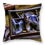 Shoe - The Shoe Cobblers Box Throw Pillow