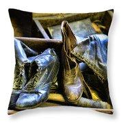 Shoe - Vintage Ladies Boots Throw Pillow