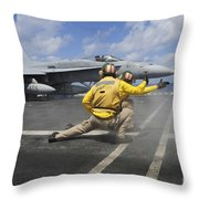Shooters Give The Signal To Launch An Throw Pillow