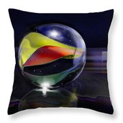 Shooting Marbles Throw Pillow by Reggie Duffie