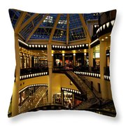 Shopping Mall In The Evening Throw Pillow