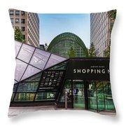 Shopping Mall Throw Pillow