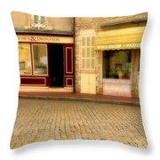 Shops In Beaune France Throw Pillow
