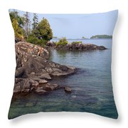 Shore Of Isle Royale Throw Pillow