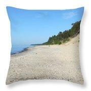 Shore Of Lake Superior Throw Pillow