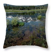 Shore Reflections Of Mt Tallac Throw Pillow