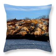Rockport Shore Rocks - Greeting Card Throw Pillow