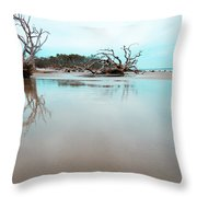 Shoreline - Driftwood Beach Jekyll Island Throw Pillow