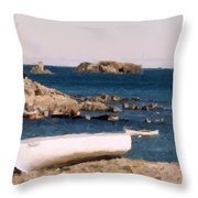 Shoreline Boat Throw Pillow