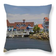Shoreline Village Throw Pillow