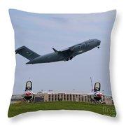 Short Field Takeoff Throw Pillow