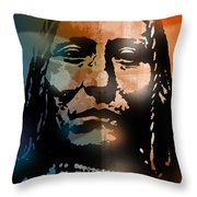 Shoshone Brave Throw Pillow