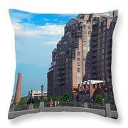 Shot Tower - Baltimore Throw Pillow