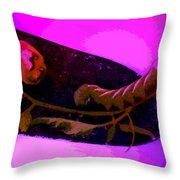 Shovel Full Of Caterpillar Throw Pillow