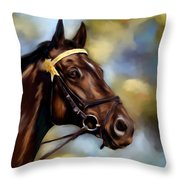 Show Horse Painting Throw Pillow