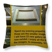 Show Preparations Throw Pillow