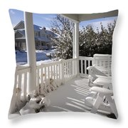 Showy Porch Throw Pillow
