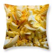 Shredded Eggs Throw Pillow