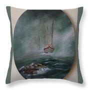 Shrimp Boats Coming Throw Pillow
