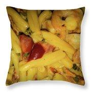 Shrimp N Pasta Throw Pillow