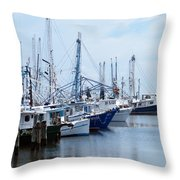 Shrimpers Row Throw Pillow