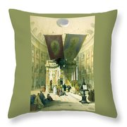 Shrine Of The Holy Sepulchre April 10th 1839 Throw Pillow