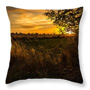 Shropshire Fields In Late Summer Throw Pillow