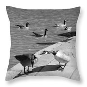 Shut Uuuuppp Throw Pillow