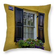 Shutters And Window Boxes Throw Pillow