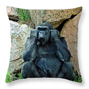 Shutting Out The Noise Throw Pillow