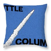 Shuttle Columbia Throw Pillow