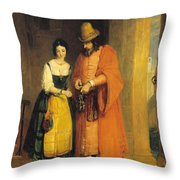 Shylock And Jessica From 'the Merchant Of Venice' Throw Pillow
