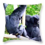 Siamang Gibbons Throw Pillow